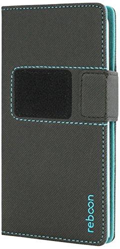 reboon booncover Smartphone Hülle | u.a. für iPhone 6, Samsung Galaxy S6 | schwarz Gr. XS | Handyhülle, Standfunktion, Kfz Handy Halterung und mehr