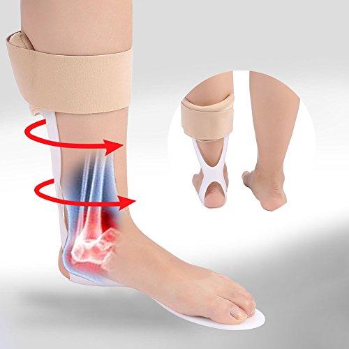 Einstellbare Fuß Drop Orthese Knöchel Korrektor Brace Support Schutzkorrektur Schiene(M(39-45)Links))