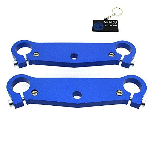 STONEDER Horquilla delantera azul triple abrazadera de árbol placa para chino de 2 tiempos 47cc 49cc Mini Moto Pocket Bike Jags Mx-3 GP-RSR MTA1 MTA2 A1 A2 A3