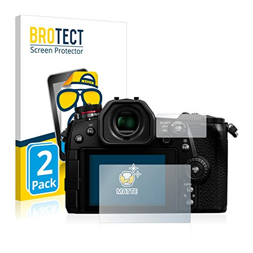 BROTECT 2X Entspiegelungs-Schutzfolie kompatibel mit Panasonic Lumix DC-G9 Bildschirmschutz-Folie Matt, Anti-Reflex, Anti-Fingerprint
