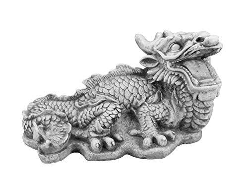 gartendekoparadies.de Große Steinfigur chinesischer Drachen aus Steinguss frostfest