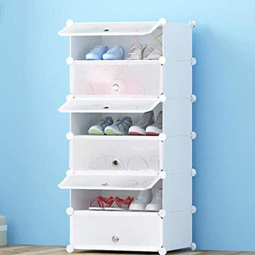 NSYNSY Zapatero para Muebles, Caja de Zapatos, Caja de Almacenamiento de Zapatos apilable de plástico DIY, sólida y Duradera, Cubierta Transparente, fácil de Guardar los Zapatos (tamaño: 6 Niveles)