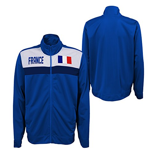 Outerstuff International Soccer France Track Jacket Football French Blue Embroidered Zip UP - Large