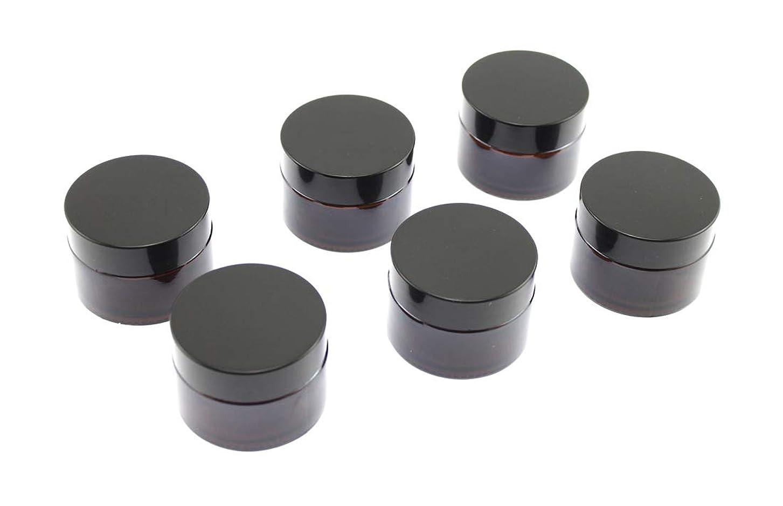 電化するクロール変色するOlive-G ハンドクリーム 保存 詰め替え用 ガラス容器 遮光瓶 30g 6個セット BROWN