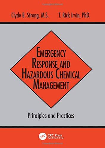 Emergency Response and Hazardous Chemical Management:...