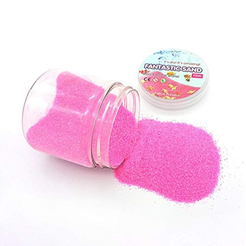 Toy Park Always Dry Magic Fantastic Sand New Exotic Funny Novelties Toys with Box Packaging – Yellow Magic Fantastic Sand New Exotic Funny Novelties Toys with Box Packaging – Pink
