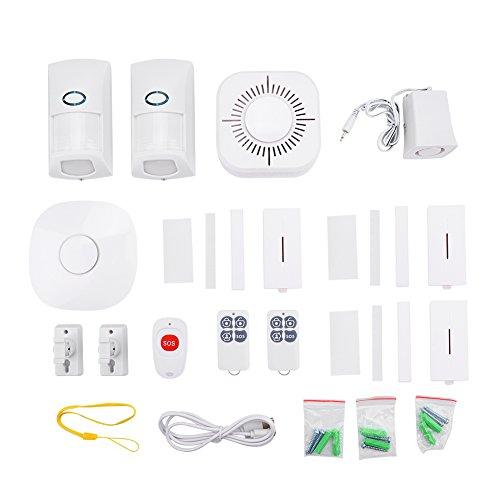 Fdit Wireless GSM Alarmsysteem Smart Inbreker Security Kit met wijzerplaat met outdoor sirene voor complete huis- en zakelijke veiligheid