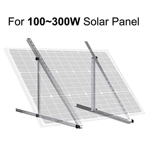 "ECO-WORTHY 41"" Adjustable Solar Panel Tilt Mount Mounting Brackets Boat, RV, Roof Off Grid System(41-inch Length)"