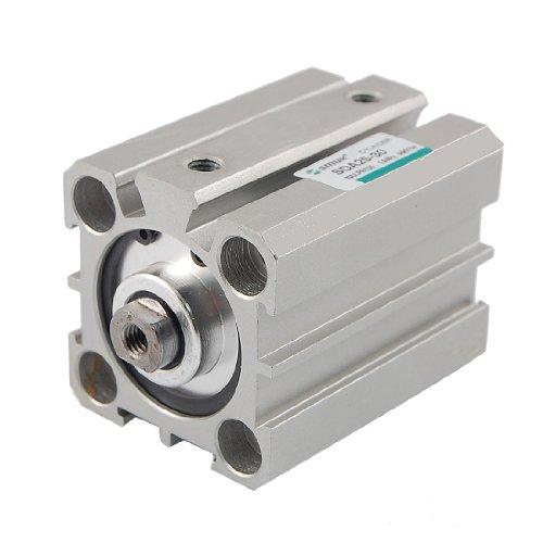 sourcing map a12030500ux0047 - Diámetro de 25 mm de carrera de 30 mm de doble efecto cilindro neumático actuador neumático