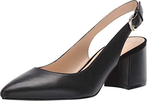 NINE WEST Tulip Black Leather Slingback Pumps-Black-8.5-M