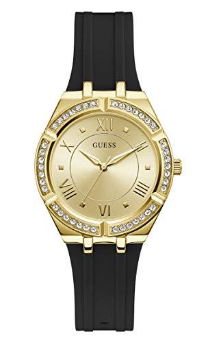 Guess Damen-Armbanduhr GW0034L1 – Gold/Schwarz mit Strass