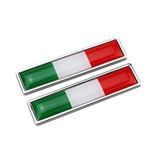 Bonfinity 2 Adesivi Bandiera Italiana 3D per Auto e Moto Tuning | Sticker Stemma Adesivo Tricolore Italia Esterno Emblema 5,8 x 1,4 cm