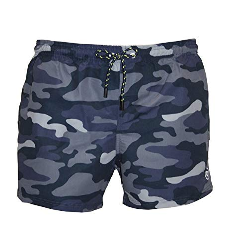 Bugatti Swim Shorts, Blue Camouflage, S