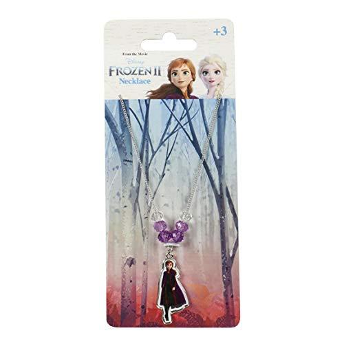 Disney | Frozen 2 | Collar Premium Exclusivo | Accesorio Diario para Niñas | Colgante | Joyas para Niñas | Disfraces | Collar Anna |