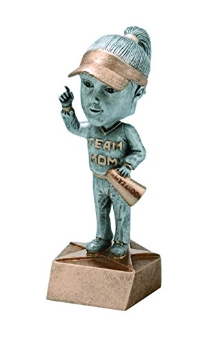 Decade Awards Team Mom Bobblehead Trophy - Booster Award, Female - 6 Inch Tall - Customize Now