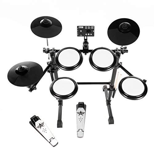 Fame DD-KIDDY V2 E-Drum Set (7-teiliges Elektronisches Schlagzeug für Kinder - Mesh Heads, 144 Sounds, 12 Kits, Drumsticks & Drum Key)