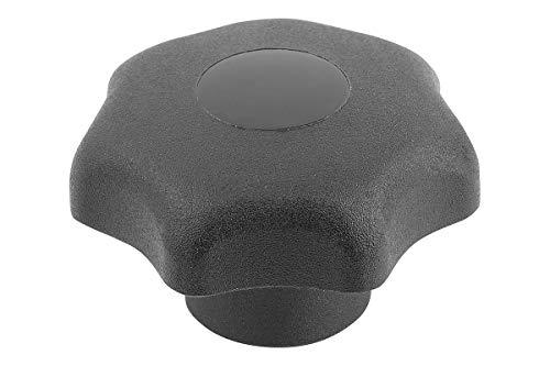 KIPP Sterngriff - Thermoplast, Innengewinde - M8, D1=40Mm - schwarz - Komponent Stahl, 4 Stück, K0155.208