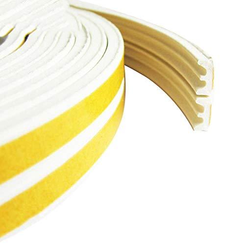 1 ST 5M D type afdichtstrip Zelfklevende afdichtstrips Schuimtap Excluder Zelfklevende raamdeurafdichting Strip Hardware-instrumenten, witte E-strips, 10M
