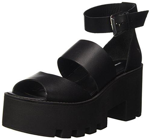 Windsor Smith WSSPUFFY, Sandali con Piattaforma e Cinturino alla Caviglia Donna, Nero, 36 EU