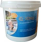 Granulado de Cloro Disolución Lenta con un Contenido de Cloro Activo Muy Elevado 90%, orgánico, 5 kg Blanqueador Juntas Desinfectante Mantenimiento Piscinas Ajustador PH Bactericida