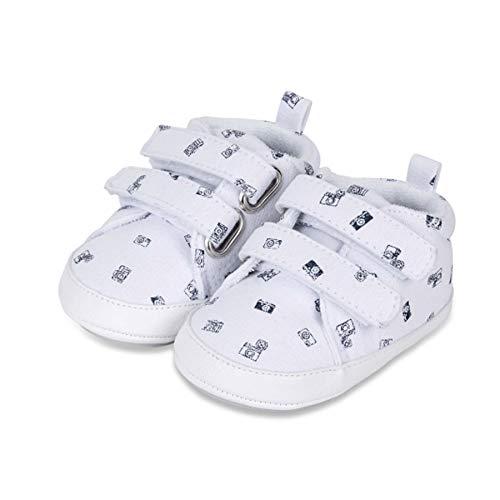 Sterntaler Unisex-Baby-Schuhe, Klettverschluss, Rutschfeste Sohle, Farbe: Weiß, Größe: 21/22, Art.Nr.: 2302111.0