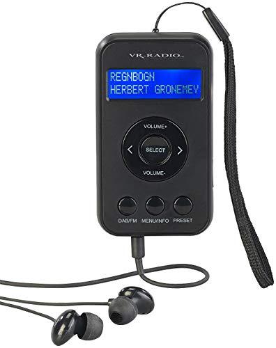 VR-Radio Kopfhörer mit Radio DAB+: Digitales Taschenradio mit DAB+/FM, Akku, LCD-Display, DRC & Ohrhörern (Taschenradio mit Kopfhörer)
