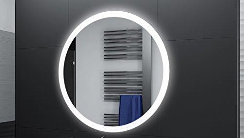 Badspiegel Designo Rund MAR110 mit A++ LED Beleuchtung - 80 cm - Made in Germany - TIEFPREISGARANTIE