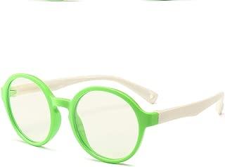 Blue Light Blocking Glasses for Kids3+ Anti Eyestrain Eyewear Round Glasses Computer ipad Eyewear Children