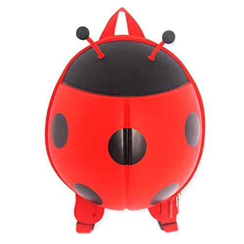 DK-tre Neuheit 3D Stereo kleine Kinder Schulranzen Kleinkind Rucksack Lovely Animal Chafer Bag für Kindergarten Kinder rot