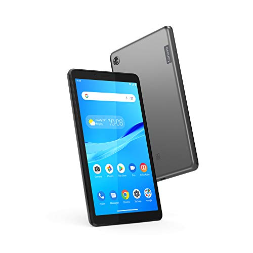 "Lenovo Tab M7, 7"" Android Tablet, Quad-Core Processor, 1.3GHz, 16GB Storage, Bluetooth, WiFi, 10 Hour Battery, Android 9 Pie Go, ZA55012US, Onyx Black"