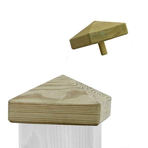 Pfostenkappe aus Holz für Pfosten 7x7 cm, imprägniert