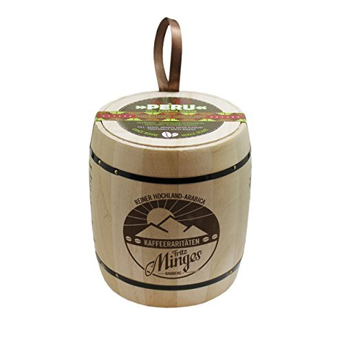 Fritz Minges Peru High Land, Arabica Coffee, Whole Beans, Aroma Soft Pack, 250 g by Fritz Minges