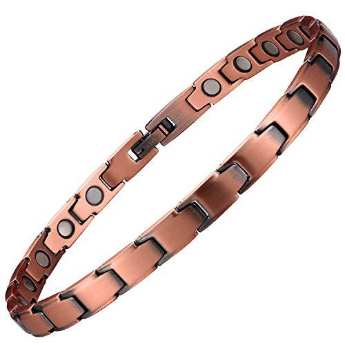 Womens Copper Bracelet Pure Copper Magnetic Bracelets for Arthritis Pain Relief and Carpal Tunnel Migraines Tennis Elbow