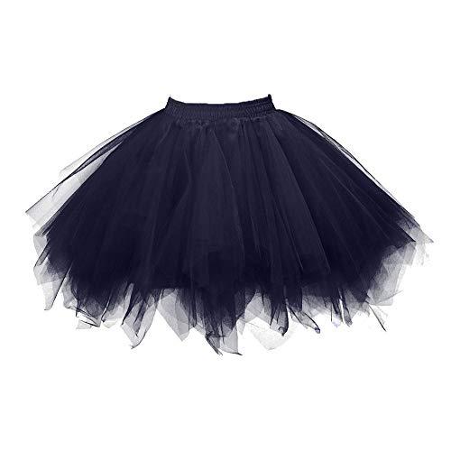 Aiserkly 50er Jahre Retro Tutu Tüllrock Damen Vintage Petticoat Reifröcke Unterrock für Rockabilly Kleid Festliches Kleid Brautkleid Ballkleid Mini Kleid Empire O