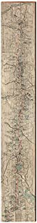 MILL WOOD ART Pacific Crest Trail Map Home Decor Art Print on Real Wood (9.5