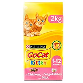 PURINA® GO-CAT® KITTEN with Chicken, with Milk and with Vegetables dry cat food 4 x 2kg (8 KG)