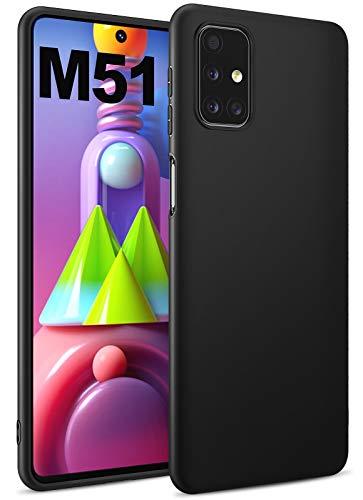 BENNALD Hülle für Samsung Galaxy M51 Hülle, Soft Schutzhülle Hülle Cover - Premium TPU Tasche Handyhülle für Samsung Galaxy M51 (Schwarz,Black)