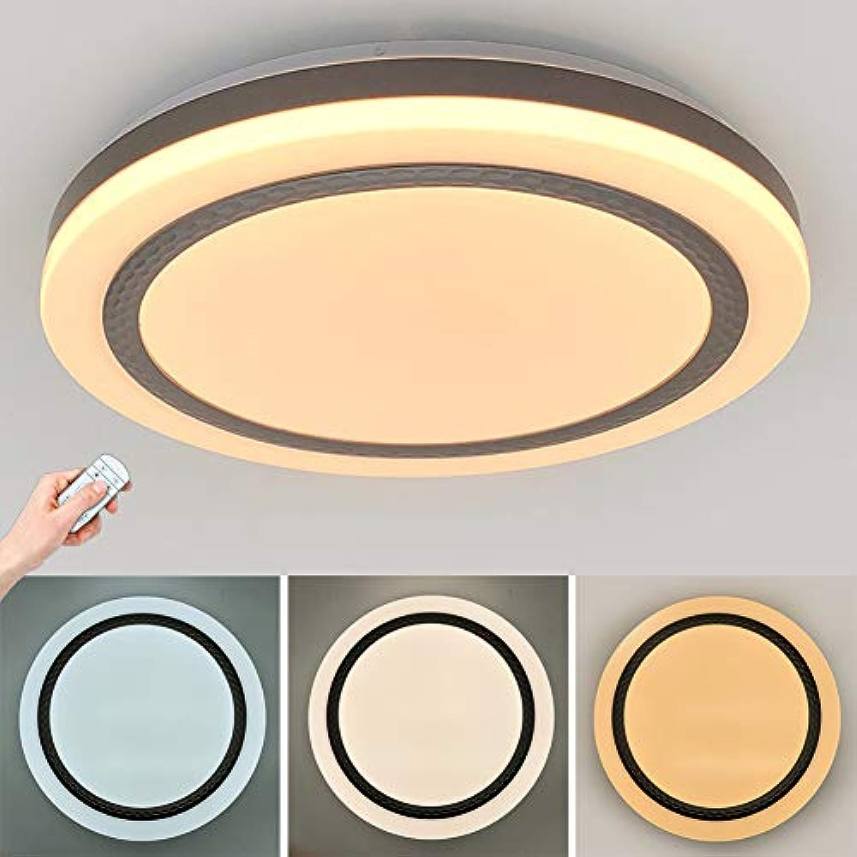 24W LED Deckenleuchte stufenlos dimmbar Fernbedienung Sternenhimmel Moderne Rund Deckenlampe Küchenleuchte Innenleuchte Wandleuchte Wohnzimmer Badezimmer Schlafzimmerleuchte 1440lm, 40CM