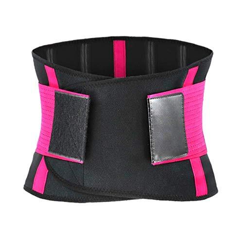 Sport Soutien à la Taille Hommes Femmes Course à Pied Gym Ceinture Ceinture élastique (Color : Rose Red, Size : XL)