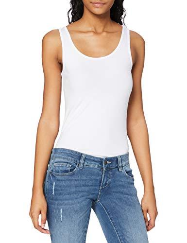 Only 15095808 Camiseta sin Mangas, Blanco (White White), 42 (Talla del Fabricante: Large) para Mujer