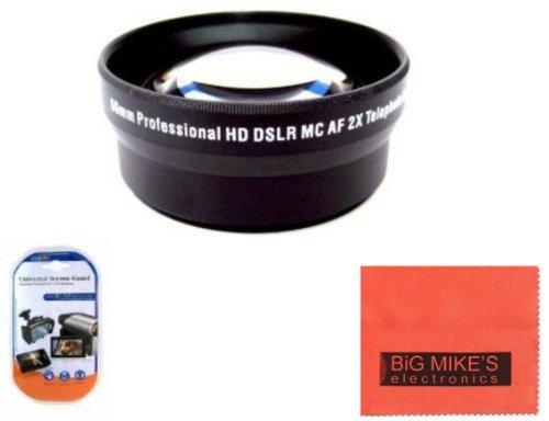 52mm 2X Telephoto Lens for Panasonic Lumix DMC-G1 DMC-G2 DMC-G3 DMC-G6K DMC-G10 DMC-GF1 DMC-GF2 DMC-GF3 DMC-GF5 DMC-GF6K DMC-GH1 DMC-GH2 DMC-GH3 DMC-GM1K DMC-GX1 DMC-GX7K DMC-L1 DMC-L10 Digital SLR Camera Which Has Any Of These Panasonic Lenses (G Vario 14-45mm, 45-200mm, 14-42mm)
