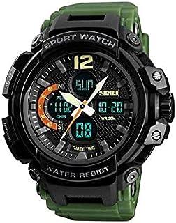 Skmei 1343 50m Waterproof Men's Digital Sports Watch - Army Green , 2724716164297