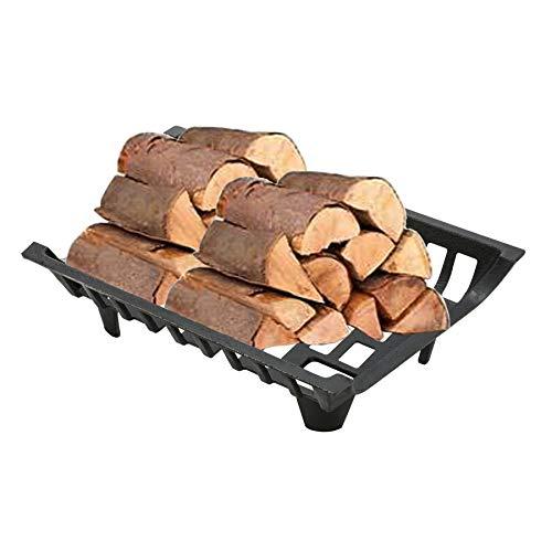 Feuerrost Kamin mit Füßen 8mm dick aus Stahl Kaminrost Kohlerost Gitterrost Fireplace Log Grate für Holz und Kohle 45.7cm x 30.5cm x 12.2cm