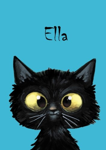 Ella - Coloring Book / Notebook / Diary - DIN A5 - cat – blank