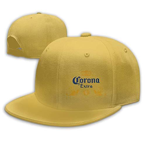 Tengyuntong CoroExtra Beer Gorras Unisex Moda Sombrero de Copa Plano Gorra de béisbol Ajustable Adecuado para Cualquier Temporada