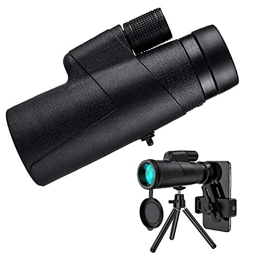 CYGGBF Telescopio monocular, telescopio monocular HD 12X50, telescopio monocular Impermeable BKA4 Prism con Soporte para teléfono Inteligente y trípode, Adecuado para Camping, Trekking