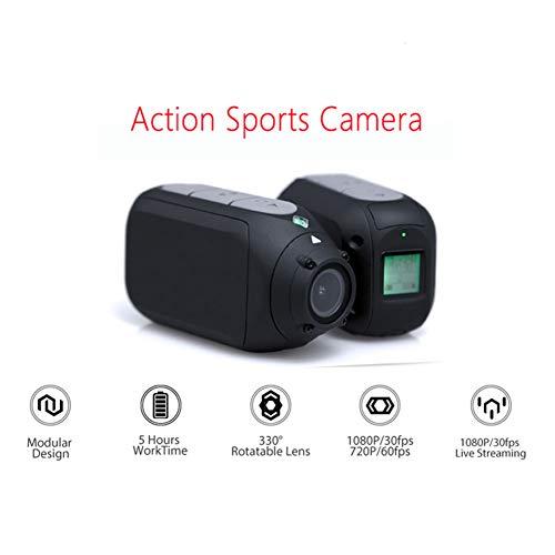 GAYBJ Sport-Kamera 1080P Motorrad Fahrrad Mountainbike Kamera Helmkamera mit WiFi