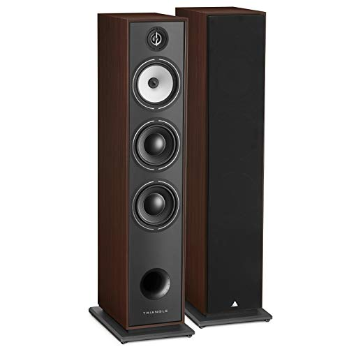 Lowest Price! triangle HiFi Floor Standing Speakers - Borea BR08, Walnut, Pair