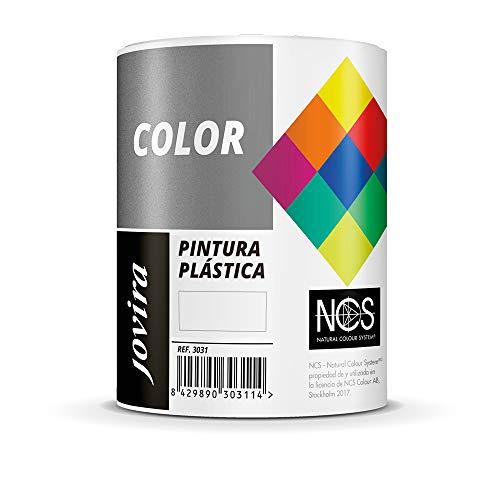 PINTURA MATE CUBRIENTE | 24 COLORES |, Pintura interior-exterior con excelente poder cubriente (750 ml, BLANCO)
