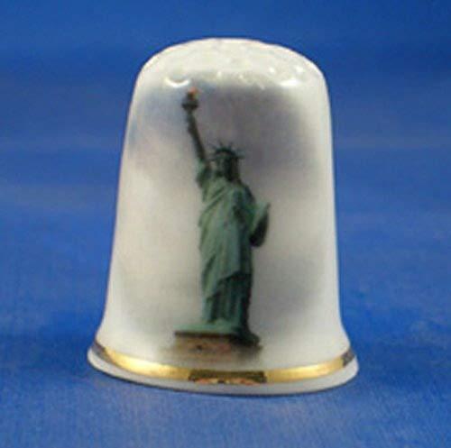 Coleccionable porcelana China dedales Estatua libertad